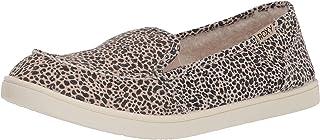 Roxy Minnow Faux Fur Slip on Sneaker Shoe womens Sneaker