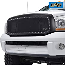 EAG Rivet Stainless Steel Wire Mesh Replacement Fit for 06-09 Dodge Ram 1500/2500/3500 Grille