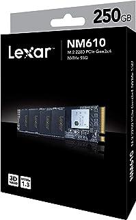 Lexar NM610 M.2 2280 NVMe SSD, 250GB Capacity