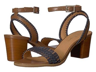 Jack Rogers Tinsley Mid Heel (Cognac/Midnight) Women