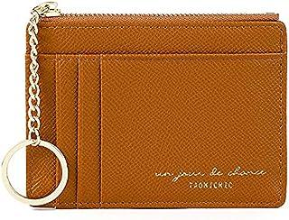 Slim Minimalist RFID Blocking Leather Wallets Credit Card Holder Case Money Clip Pocket Wallet Coin Purse Keychain Travel ...