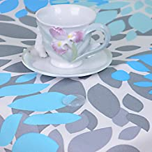 R.LANG Stain-Resistant Placemat Set of 6 Spillproof Rectangle Placemats 13 X 19 Sky Blue/Greay