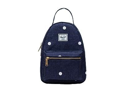 Herschel Supply Co. Nova Mini (Polka Dot Crosshatch Peacoat) Backpack Bags
