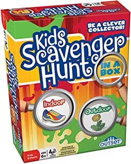 Kid`s Scavenger Hunt - Indoor and Outdoor Scavenger Hunt Card Game to Play Rain or Shine - Ages 6 +