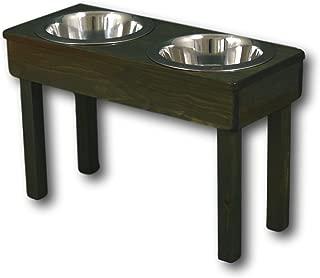 raised dog bowl stand single