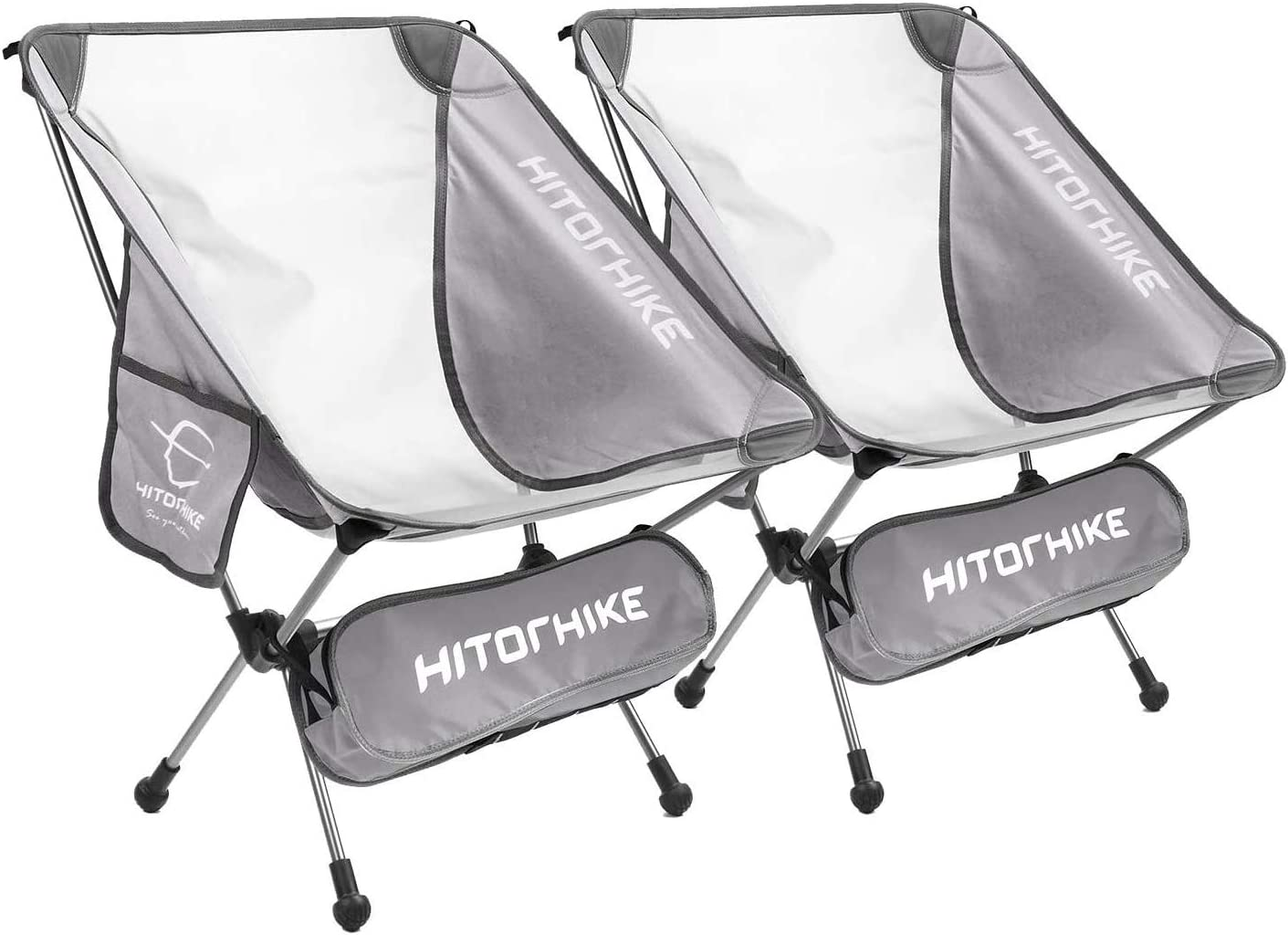 Hitorhike Camping Chair Breathable Limited time sale 2021 model Mesh Construction 2 Pock Side