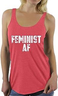Awkward Styles Women's Feminist AF Racerback Tank Tops Feminist Racerback Tank Tops Gender Equality
