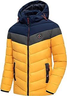N-B Chaqueta Impermeable para Hombre Abrigo Grueso Informal Abrigo cálido a Prueba de Viento Parka