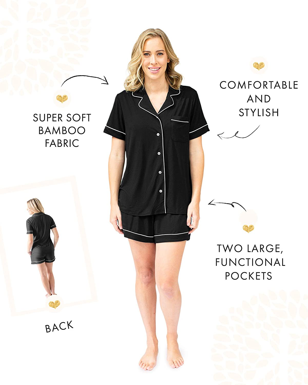 Kindred Bravely Clea Bamboo Classic Short Sleeve Maternity /& Nursing Pajama Set