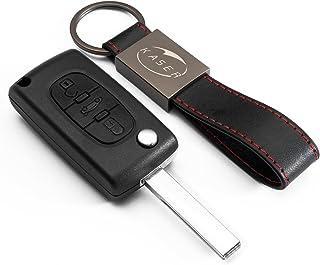 Coque Clé Télécommande Plip 3 Boutons pour Peugeot 107 207 307 407 308 409 407 607..