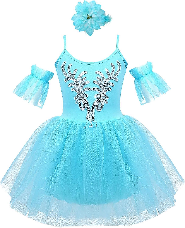 FEESHOW Kids Girls Beaded Max 90% OFF Camisole Dress Princ Fairy Swan Las Vegas Mall Ballet