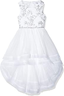Girls' Big High-Low Party Dress with Sparkle