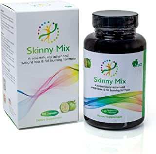 SKINNY MIX for appetite suppressant, loss Weight and fat burning formula made in U S A, 120 capsules with Chromium, Garcin...