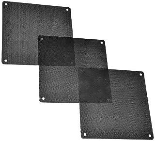 Malla a Prueba de Polvo, 3 Unidades de Filtro de Polvo para Ventilador de Ordenador de PVC, Color Negro