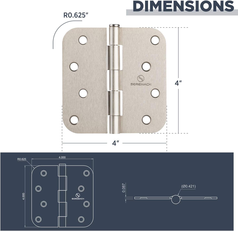 Door Hinges Oil Rubbed Bronze Hardware Hinges 4 Inch Square Black Interior Hinges for Door 12 Pack