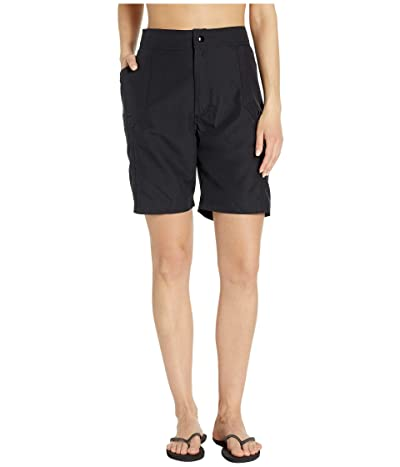Maxine of Hollywood Swimwear Solids Woven Long Boardshort (Black) Women