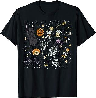 Star Wars Halloween Cartoon Collage T-Shirt