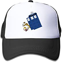 YQUE Girls Summer Caps Hat Mesh Calvin And Hobbes Doctor With Who Black