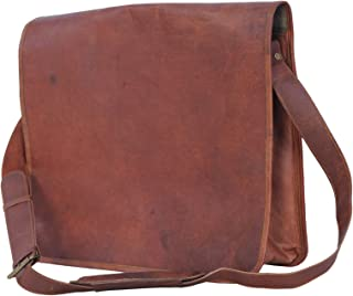 Passion Leather Vintage 15 Inch Leather Messenger Satchel laptop Bag/Fits 13