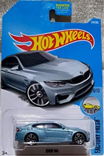 Hot Wheels 2017 Factory Fresh BMW Model M4 154/365, Blue-Gray