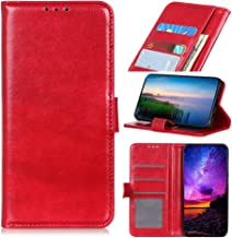 Custodia® Flip Wallet Case for Motorola P40 (Red)