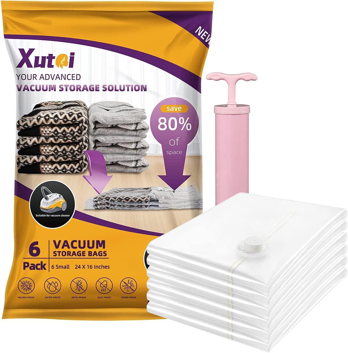 XUTAI Vacuum Storage Spasm price Bags - Space Saver Small Stor 6 Max 76% OFF