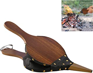 Nicemeet Fireplace Bellows 43 X 9 X 4.5cm Wooden Hand Air Blower for Fireplace and Barbecue