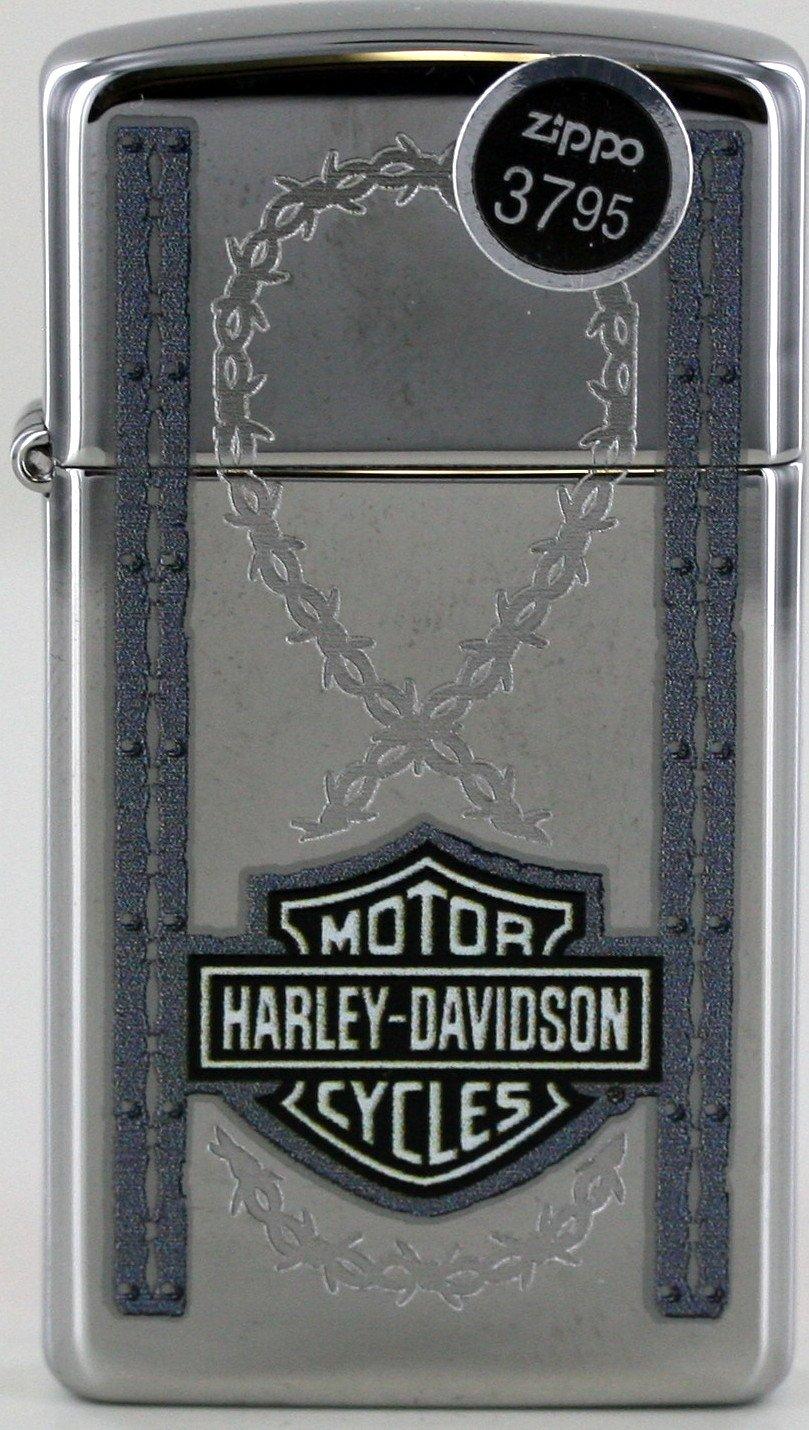 Lady Bikers Barbed Wire Slim Harley Davidson Zippo Lighter