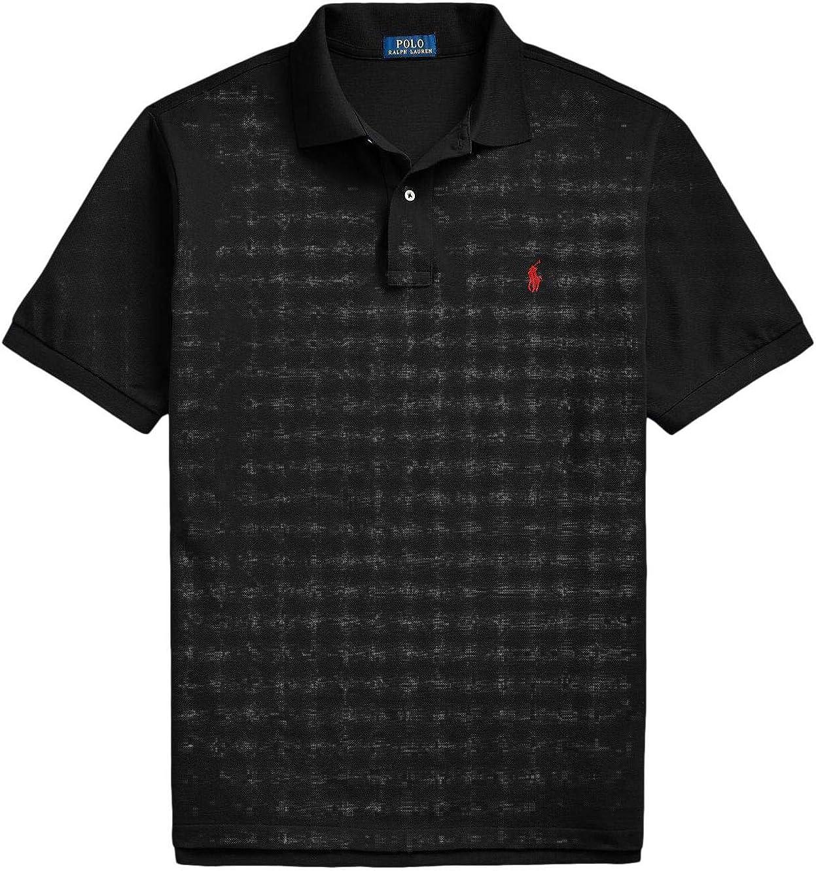 Polo Ralph Lauren Polo Shirt Men's Big and Tall Pique Cotton Polo Shirt (LT, Black)