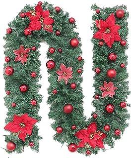 aipipl Décorations d'arbre de noël 2,7 mètres Pendentif crypté Vigne Artificielle Arbre de noël décorations de noël couron...