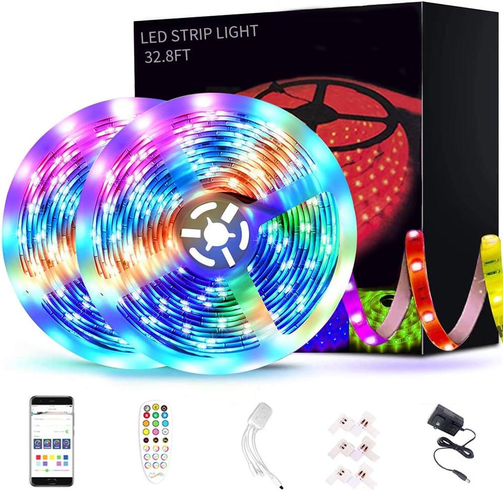 Rainbright Max 60% OFF Spring new work Bluetooth 32.8FT Waterproof LED Con Strip APP Lights