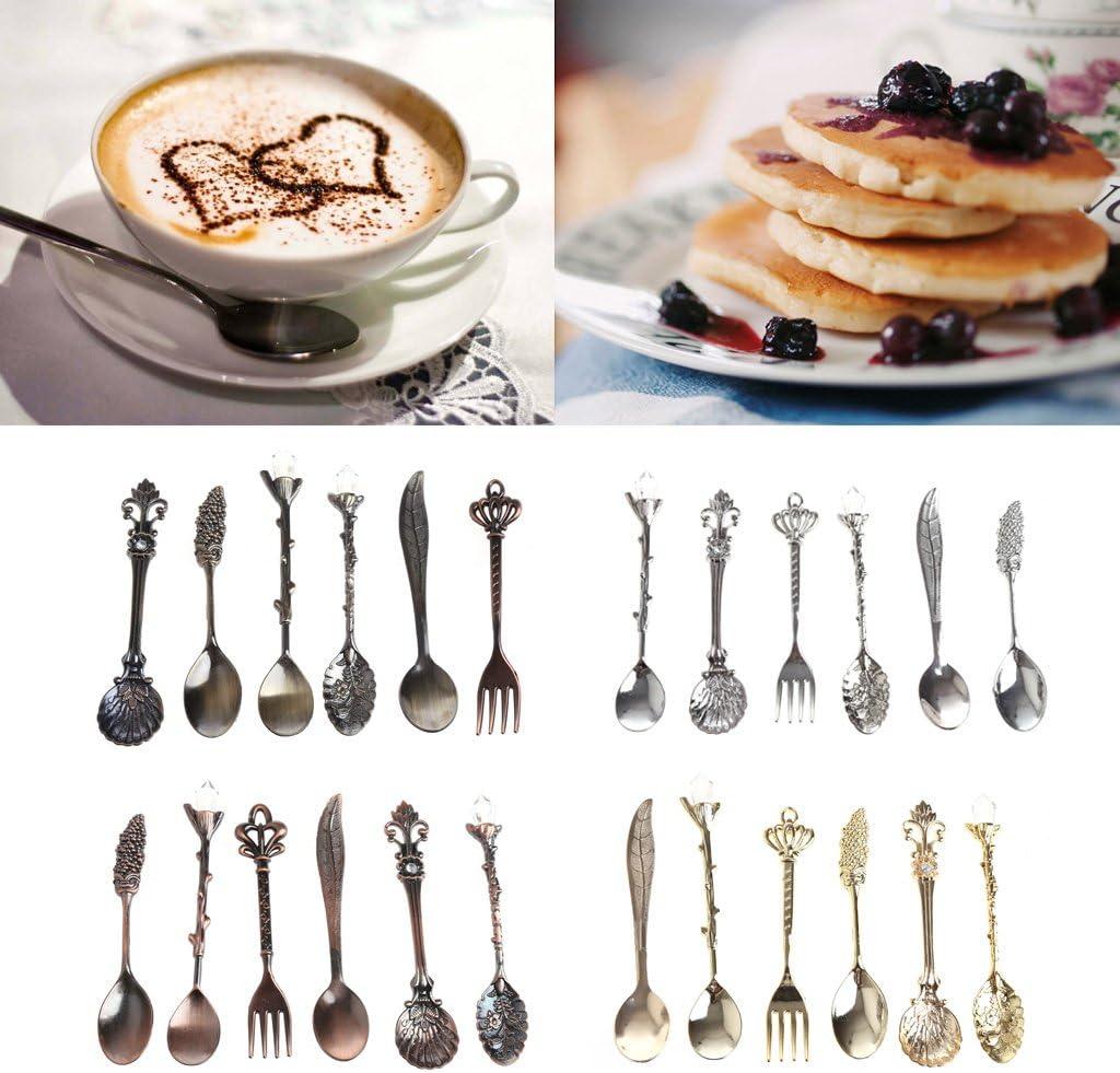 Youlin Kaffeel/öffel Teel/öffel Edelstahl Dessertl/öffel Zuckerl/öffel silberfarben