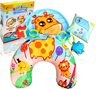 Adpartner Baby Prop Pillow, Cute Cartoon Hug & Play Activity Pillow for Over 3 Months Babies, Infants & Toddlers