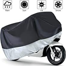 LotFancy Motorcycle Cover, All Season Weather Waterproof Sun Outdoor Protection Fits up to 96-Inch Scooter Bike, Motors, Dirt Bike and Road Bike, Choppers and Cruisers