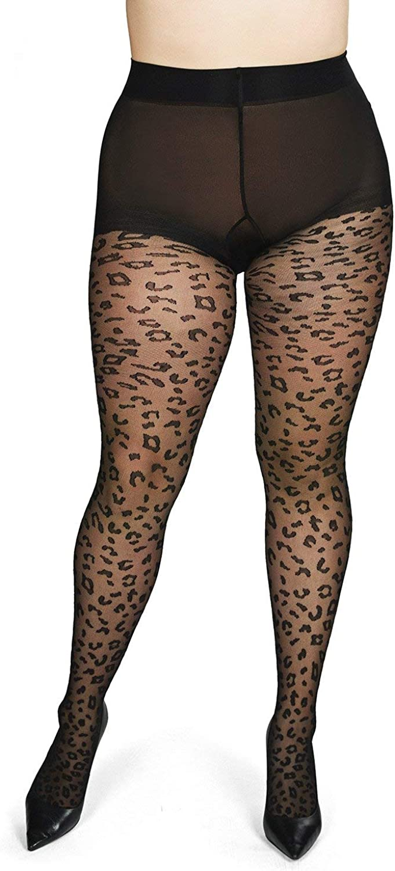 MeMoi Leopard Print Sheer Tights