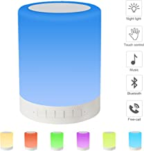Eterichor Touch Bedside Lamp with Bluetooth Speaker, Night Light with Dimmable Warm White Light & Color Changing Lamp for Bedroom, Gifts for Women Men Kids