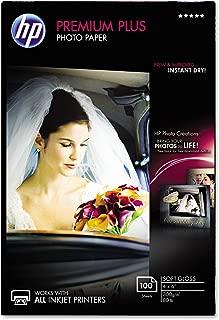 HP CR666A HP Photo Paper, 4-Inch x6-Inch, 11.5 mil, 100Sht/PK, Soft-Gloss/WE