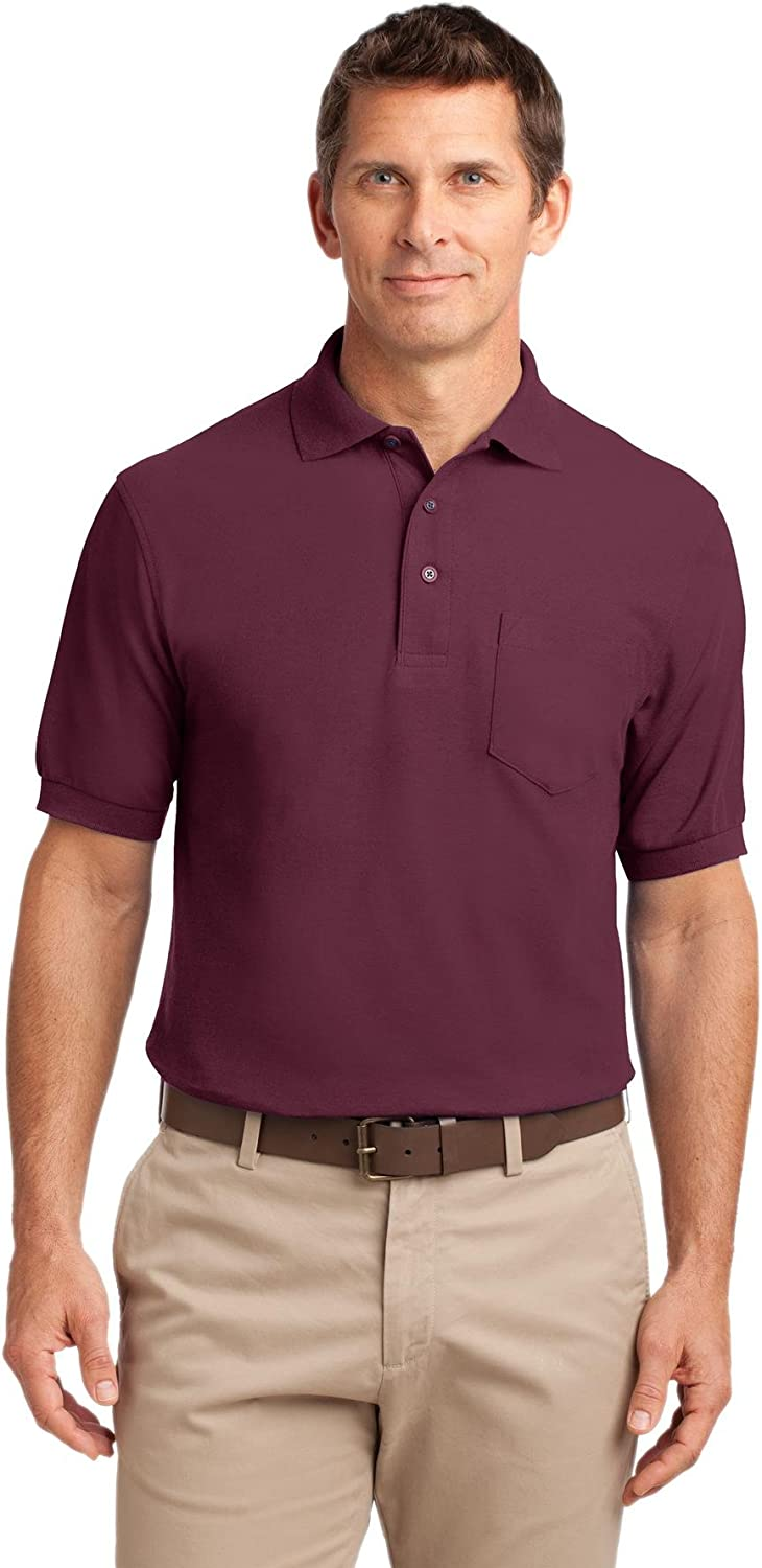 Port Authority Men's Silk Touch Polo with Pocket