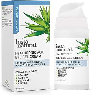 Hyaluronic Acid Eye Gel Cream - Hydrating Dark Circle, Eye Bags Remover & Puffy Eyes Moisturizer - Crows Feet, Lines & Wri...