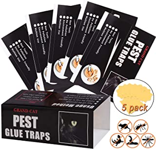 Mouse Glue Traps Large Size, 5 Pieces Peanut Butter Mouse Traps Glue Pads Super Sticky Boards for Indoor and Outdoor Mice,...