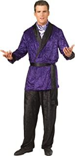 Mens Playboy Purple Smoking Jacket