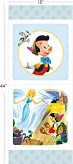 Disney Pinocchio Fabric Panel in Blue by The Panel