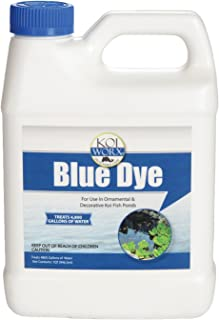 KoiWorx Blue Dye - Ornamental and Decorative Pond Dye, Water Features and Fountains, Safe for Koi - 1 Quart
