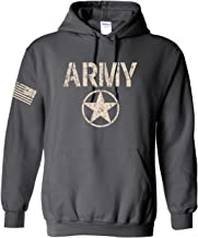 All Things Apparel US Army Star Logo with Flag On Sleeve Hoodie