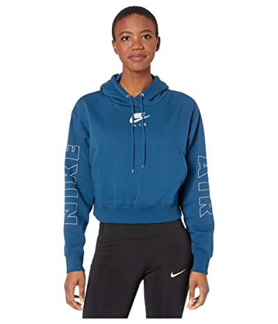 Nike NSW Air Hoodie Fleece (Valerian Blue/Ice Silver) Women