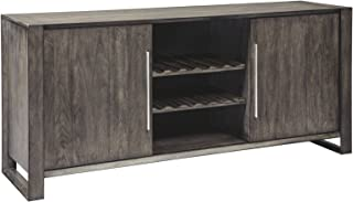 Ashley Furniture Signature Design - Chadoni Dining Room Server - Contemporary - Sliding Doors - Smoky Gray Finish