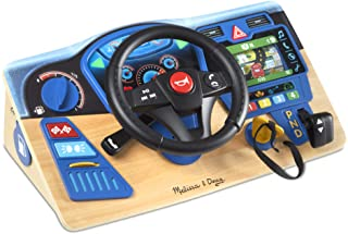 Melissa & Doug Vroom & Zoom Interactive Wooden Dashboard Pretend Play Driving Toy