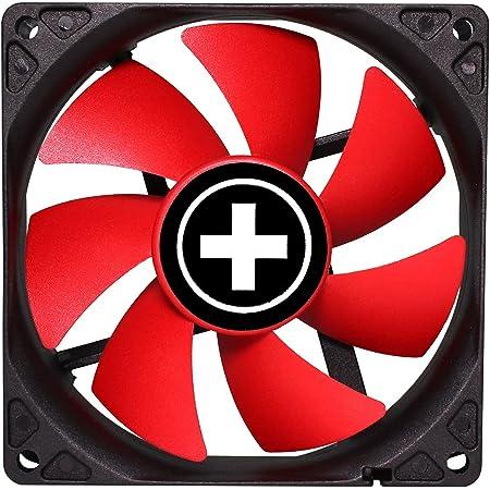 Xilence XPF92.R.PWM Boitier PC Ventilateur 9,2 cm Noir, Rouge