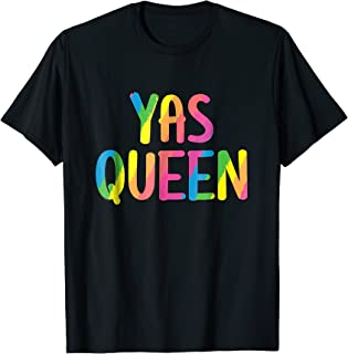Yas Kween City Shirt Rainbow Colors Yas Queen