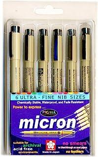 مجموعة أقلام من 6 أقلام - 005,01,03,04,05